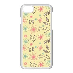Seamless Spring Flowers Patterns Apple Iphone 7 Seamless Case (white)