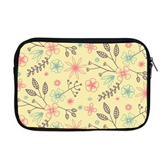 Seamless Spring Flowers Patterns Apple Macbook Pro 17  Zipper Case