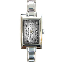 Science Formulas Rectangle Italian Charm Watch
