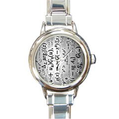 Science Formulas Round Italian Charm Watch