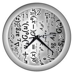 Science Formulas Wall Clocks (Silver)