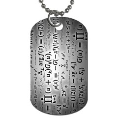 Science Formulas Dog Tag (One Side)