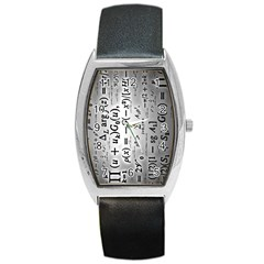 Science Formulas Barrel Style Metal Watch