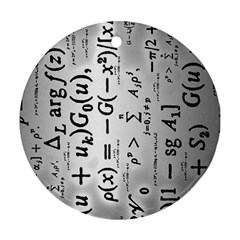 Science Formulas Round Ornament (two Sides)