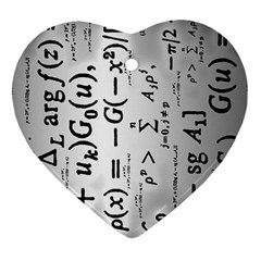 Science Formulas Heart Ornament (two Sides)