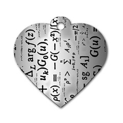 Science Formulas Dog Tag Heart (One Side)
