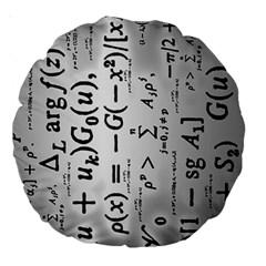 Science Formulas Large 18  Premium Round Cushions