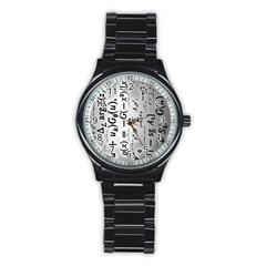 Science Formulas Stainless Steel Round Watch