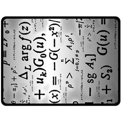 Science Formulas Double Sided Fleece Blanket (large)