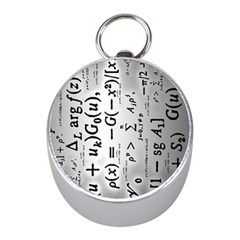 Science Formulas Mini Silver Compasses