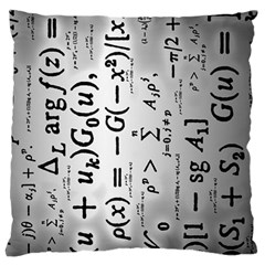 Science Formulas Large Flano Cushion Case (Two Sides)