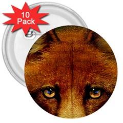 Fox 3  Buttons (10 Pack)