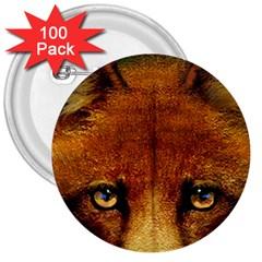 Fox 3  Buttons (100 pack)