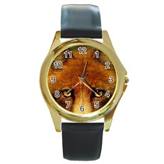 Fox Round Gold Metal Watch