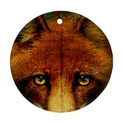Fox Round Ornament (Two Sides)