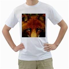 Fox Men s T-Shirt (White)
