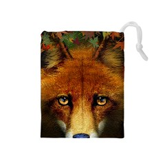 Fox Drawstring Pouches (Medium)