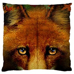 Fox Large Flano Cushion Case (one Side)