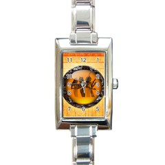 Maps Egypt Rectangle Italian Charm Watch
