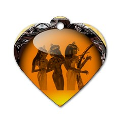 Maps Egypt Dog Tag Heart (two Sides)