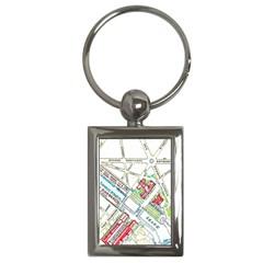 Paris Map Key Chains (rectangle)