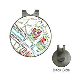 Paris Map Hat Clips with Golf Markers