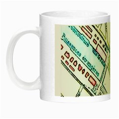 Paris Map Night Luminous Mugs