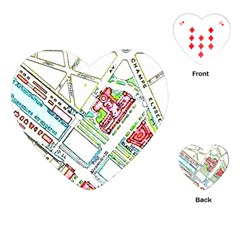Paris Map Playing Cards (heart)