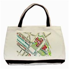 Paris Map Basic Tote Bag