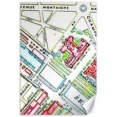 Paris Map Canvas 20  X 30