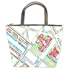 Paris Map Bucket Bags