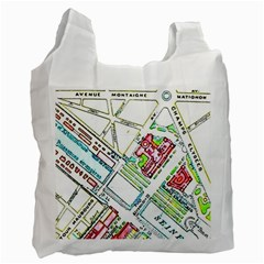 Paris Map Recycle Bag (two Side)