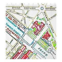Paris Map Shower Curtain 66  X 72  (large)