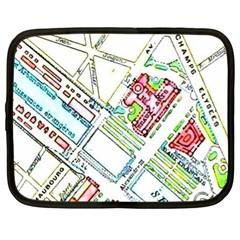 Paris Map Netbook Case (XL)