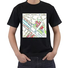 Paris Map Men s T Shirt (black)