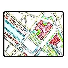 Paris Map Fleece Blanket (Small)