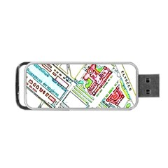 Paris Map Portable USB Flash (One Side)
