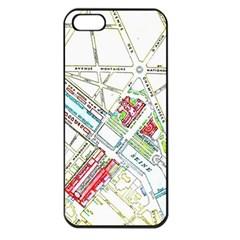 Paris Map Apple iPhone 5 Seamless Case (Black)