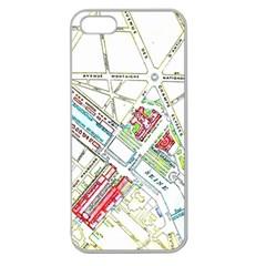 Paris Map Apple Seamless Iphone 5 Case (clear)