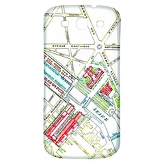 Paris Map Samsung Galaxy S3 S III Classic Hardshell Back Case