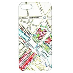 Paris Map Apple iPhone 5 Hardshell Case with Stand