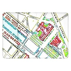 Paris Map Samsung Galaxy Tab 8.9  P7300 Flip Case