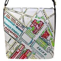 Paris Map Flap Messenger Bag (S)