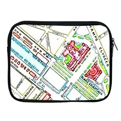 Paris Map Apple iPad 2/3/4 Zipper Cases