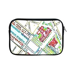 Paris Map Apple iPad Mini Zipper Cases