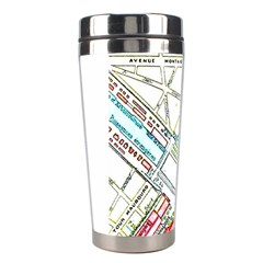Paris Map Stainless Steel Travel Tumblers