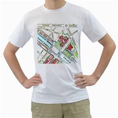 Paris Map Men s T-Shirt (White)
