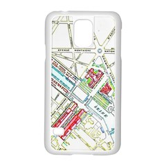 Paris Map Samsung Galaxy S5 Case (white)