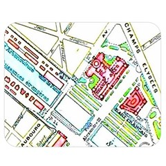 Paris Map Double Sided Flano Blanket (Medium)