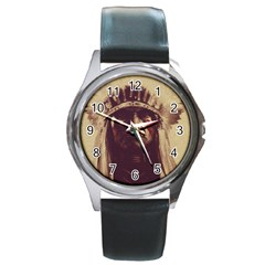 Indian Round Metal Watch